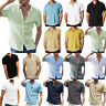 Sommer Herren Boho Strand Kurzarm Shirt T-Shirt Freizeithemd Hemden Oberteil Top