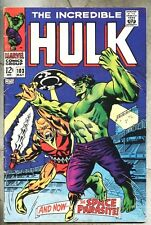 Incredible Hulk #103-1968 vg Space Parasite