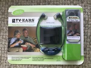 TV Ears Noise Reduction Wireless Powerful TV Headset 10 Replacement Ear Tips New