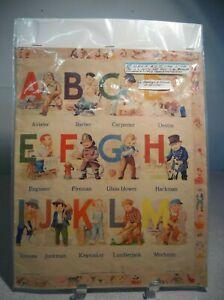 Vintage Samuel Lowe Company ABC Cloth Alphabet Learning Book Circa 1943