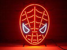 New SPIDERMAN MARVEL SUPERHERO COMIC REAL GLASS NEON BEER BAR PUB LIGHT SIGN