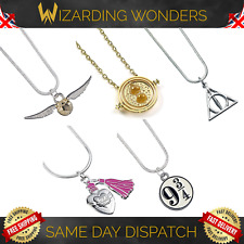 Harry Potter Necklace The Carat Shop Deathly Hallows Golden Snitch Gift UK