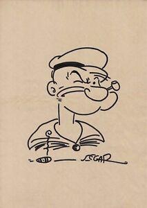 Popeye drawing by Elzie Crisler Segar New York