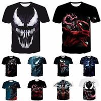 Funny 3D print Casual Men T-Shirt Women Venom Skull Fashion Short Sleeve Tops