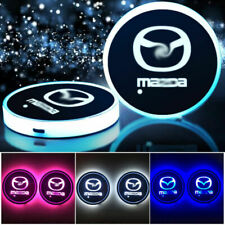 2PCS Colorful LED Car Cup Bottle Holder Pad Mat Auto Interior  Light For Mazda R