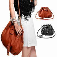 Women Lady Handbag Shoulder Bag Tote Purse Leather Drawstring Messenger Hobo Bag