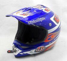 Troy Lee Designs 04TLD-SE Blue SE Flame Helmet Small 015-133 *New