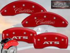 "2013-2016 ""Cadillac ATS"" 2.5L JE5 Front + Rear Red MGP Brake Disc Caliper Covers"