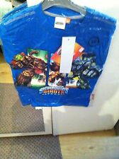 New Boys Skylanders Tshirt Tops With Long Sleeves Size 10 Ans Blue