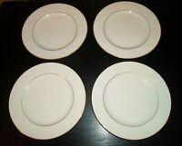 "(4) Noritake HALLS OF IVY (gold trim) 8 1/2"" Salad Plates"