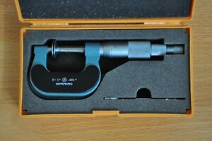 MITUTOYO DISK MICROMETER 0-1 INCH, MODEL 169-203, NON-ROTATING SPINDLE