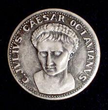 MEDAGLIA - C. JULIUS CAESAR OCTAVIANUS - LE GRANDI FIGURE DI ROMA - 1980