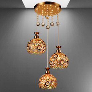 Beautiful LED Crystal Pendant Light Restaurant Bar Living Dining Rm Ceiling Lamp
