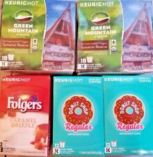72 K-Cups! - Folgers, Original Donut Shop, Green Mountain - Keurig Coffee Lot