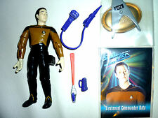 STAR TREK Loose Figure Data with Stand and Accessories TNG Pack Fresh!