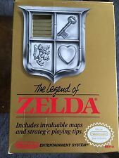 The LEGEND of ZELDA GOLD NINTENDO NES VIDEO GAME WITH BOX AND MAP GOOD