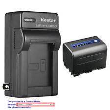 Kastar Battery AC Wall Charger for Sony NP-QM71D & Sony DCR-TRV240 DCR-TRV250