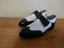 Men's VTG 1977 Wing-Tip Monk Strap Footjoy Golf Shoes Size 10.5 A NEW!