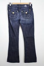 Rock & Republic Scorpion Low Rise Boot Cut Distressed Denim Jeans Size 25