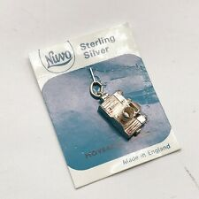 VINTAGE SOLID STERLING SILVER NUVO CAMERA OPENS  BRACELET CHARM PENDANT