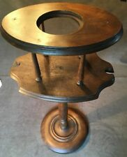 Antique Wood Pipe Stand - Smoking - Tobacco - Table -