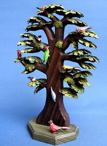 Großer Baum Eiche mit Vögeln Sächsische Holzkunst Gotthard Steglich