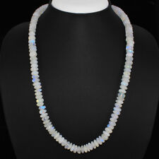 AAA 237.05 CTS NATURAL SINGLE STARND WHITE MOONSTONE ROUND SHAPE BEADS NECKLACE