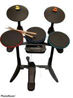 Band Hero Guitar Hero RockBand Wireless Drum For Nintendo Wii  With Pedal+Sticks
