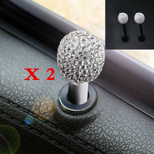 New 2Pcs Rhinestone Bling Car Interior Door Lock Knob Pins Directly Installation