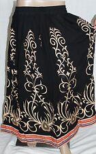 Indian Long sequin Lehanga Print Lace Skirt Boho Bollywood Dance Hippie Gypsy