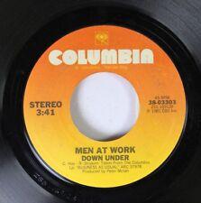 Rock 45 Men At Work - Down Under / Crazy On Columbia
