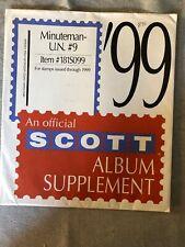 Minuteman U.N Stamp Album Supplement #9 for 1999.