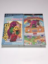 Barney - Lot Of 2 90s VHS Tapes Barney's Adventure Bus & Sense-Sational Day