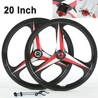 "BMX Cruiser 20"" mountain bike wheelset Disc Brake 3 Spoke Mag Alloy Bicycle Rim"