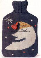 (222) DK Knitting Pattern for Moon Hot Water Bottle Cover