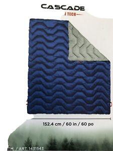 "Cascade Mountain Tech Adventure Blanket, Blue, 70"" x 60"" 100% Polyester Fill NEW"