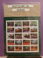 SCOTT # 5461-70-AMERICAN GARDENS - SHEET OF (20) FOREVER STAMPS - SEALED
