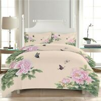 Love Butterflies 3D Quilt Duvet Doona Cover Set Single Double Queen King Print