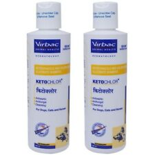 Lot of 2 Virbac KetoChlor Shampoo 200 ml 6.7 Oz For Dogs, Cats & Horses