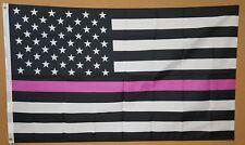 Thin Pink Line 3'x5' Flag Breast Cancer Support Banner Survivors