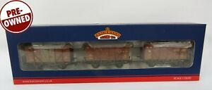 OO Gauge Bachmann 38-191Y Set Of 3 10T Insulated Ale Wagons BR Weathered TMC