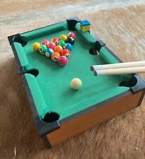 Mainstreet Classics 13-Inch Table Top Miniature Billiard/Pool Game Set w/sticks.