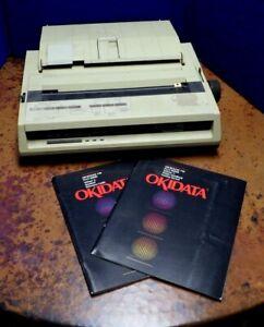 Vintage OKI Okidata Microline 192 Plus Personal Computer Printer & Books   FM