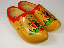 Hand Crafted Decorative Wooden Shoes From Holland Size 38/39 25cm Marked Vz
