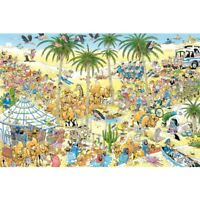 The Oasis Jan van Haasteren 1500 Piece Comic Cartoon Jigsaw Puzzle by Jumbo