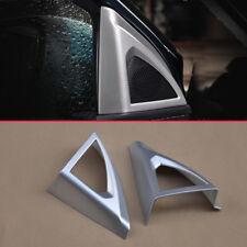 Car Door A-Pillar Speaker Covers For Peugeot 3008 5008 Matte Chrome Accessories