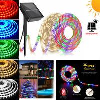 3m Solar LED Strip Streifen RGB 90LEDS Lichtband 2835SMD Band Lichterkete Garten