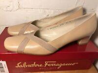 Salvatore Ferragamo Women's Low Pump Leather Shoes Italy - NICE