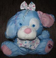 Fisher Price 1999 Blue Puffalump Kids Plush Puppy Dog Stuffed Animal Toy