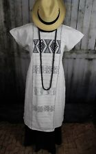 Black & White Huipil Cotzocon weavers Oaxaca Mexico Hippie Boho Resort Cowgirl